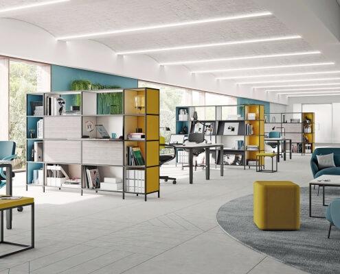 Kantoorinrichting met bureaustoelen Den Bosch